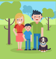 Young parents flat vector