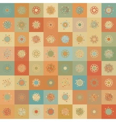 Christmas Snowflake Seamless Pattern vector image