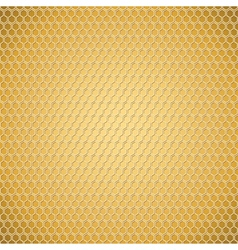 Golden honeycomb texture vector