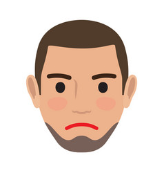 Indifferent man avatar user pic front view vector