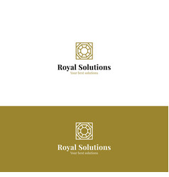 Abstract royal minimalistic logo vector