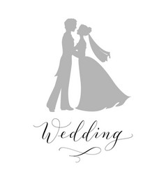 Wedding design concept bride and groom vector