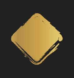 Golden grunge vintage painted square shapes vector