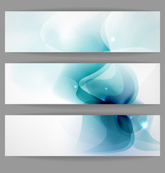 Abstract banner in blue color vector