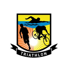 triathlon swim bike run race vector image
