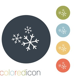 Snowflake the weather icon vector