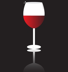 wine glass isolated vector image