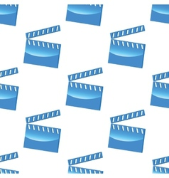 Blue clapperboard pattern vector
