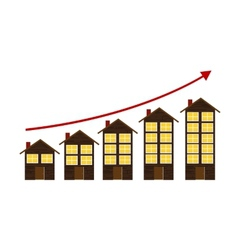 Rising housing market concept vector