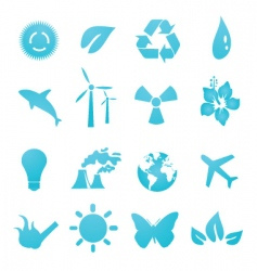 Ecology icons vector