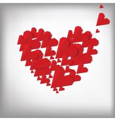 Origami hearts vector