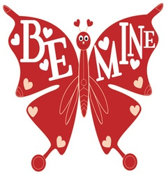 Be Mine Butterfly vector image