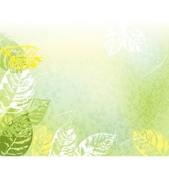 Green leafy spring background vector