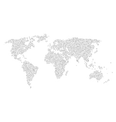 World map with letters inside Letters cloud in vector image