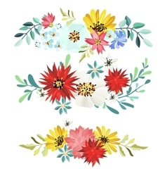 Bouquet of beautiful flowers vector