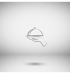 Hot proper meal plate icon vector