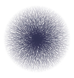 Abstract curvy lines from center vector