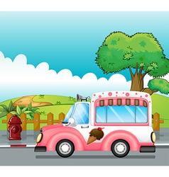 An icecream truck vector image vector image