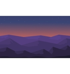 Beautiful landscape hill silhouette vector image vector image