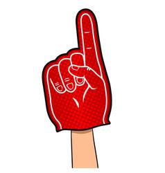 big hand of fan pop art vector image