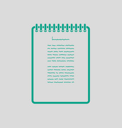 binder notebook icon vector image