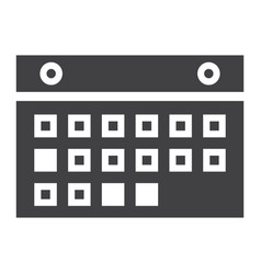 calendar solid icon mobile and website button vector image
