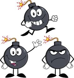 Cartoon bomb design vector image vector image