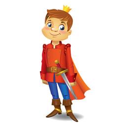 Cartoon cute prince vector