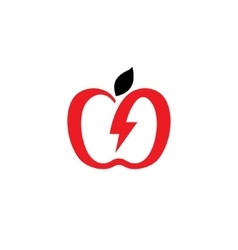Charging apple sign vector image vector image