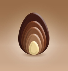 Chocolate slices ellipse shape vector image