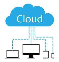 cloud computers vector image