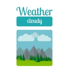 Cloudly weather vector image