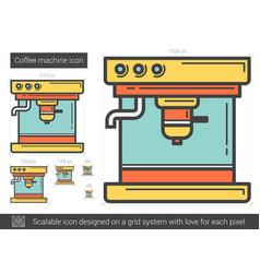 Coffee machine line icon vector