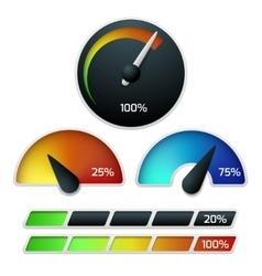 Download speedometers set vector image vector image