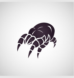 dust mites logo vector image vector image