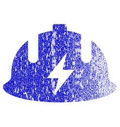 Electrician helmet textured icon vector