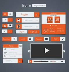 flat web design elements vector image