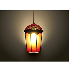Glowing islamic lamp vector