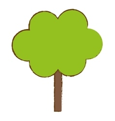 Green tree in city scene icon image vector