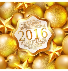 Happy new year background 2016 vector