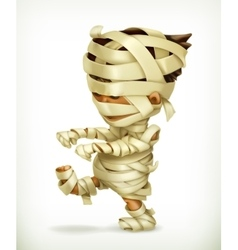 Little funny mummy vector