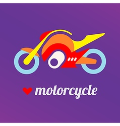 love motorcycle vector image vector image