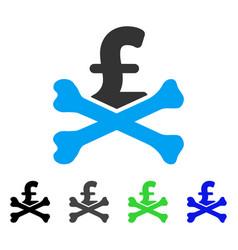 mortal pound debt flat icon vector image vector image