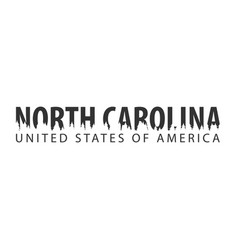 north carolina usa united states of america vector image