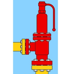 Overload relief valve vector image vector image
