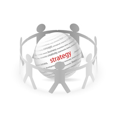 People Chain strategy vector image vector image