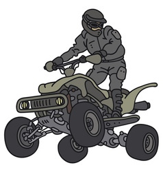 Rider on the atv vector