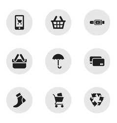 Set of 9 editable trade icons includes symbols vector