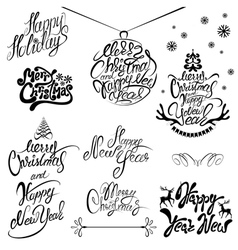 set xmas calligraphy 380 vector image