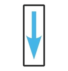Sharp arrow down framed icon vector